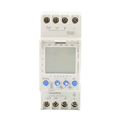 GAEYAELE THC-812 AHC822 220V-240V 16A Digital Timer Analog Switch Time Switch Digital 1 Channel or 2 Channel