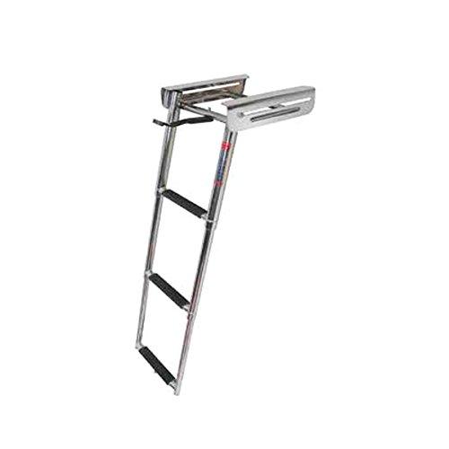 (4 Step Under Platform Sliding Ladder, Stainless 316 - Jif Marine)