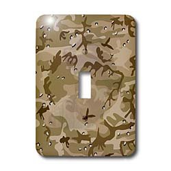 3dRose LLC lsp_60447_1 Desert Gulf War Camouflage with Hidden Face Single Toggle Switch