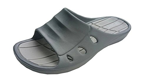 Non Grey M Pool Slip Slipper Shower Household Spa Beach Men Bathroom Comfortable Sandal Triple Plus ZSUxF