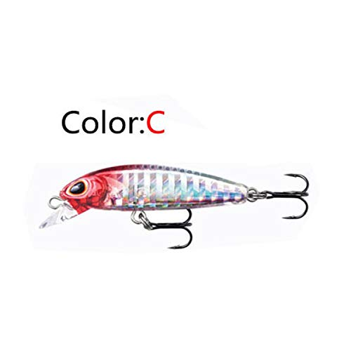 - New Mini Fishing Lure 5cm 6g Swing Small Fish Hard Bait 1 3m Diving Lures Crankbait 50s Hot Tackle,C