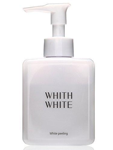WHITH WHITE Skin Whitening Face Exfoliator 【 HYALURONIC Acid & COLLAGEN 】(Made in Japan 日本) Exfoliating Scrub Peeling Gel 8.8 Ounce(250g)