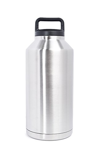 The Lobo Leak-Proof Stainless Steel Double-Walled Vacuum Insulated Large Capacity Bottle Growler Thermos Flask 64 OZ by The Lobo