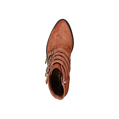 Real Pierre Heel 4 Women's cm Boots 5 Leather 4114101 Cardin Brown TZZHgWt