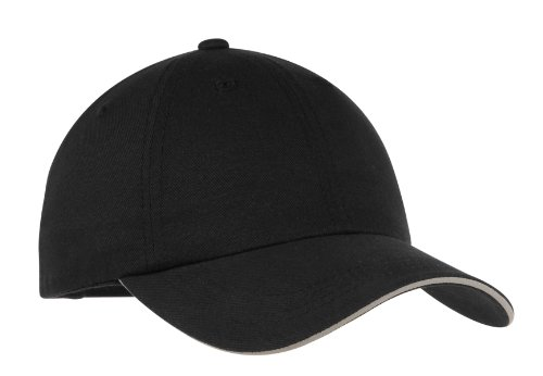(Port Authority Men's Reflective Sandwich Bill Cap OSFA Black/ Reflective)