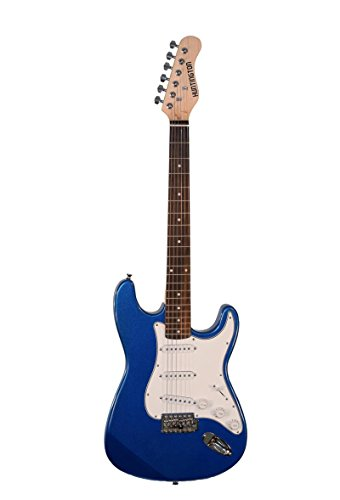 Directly Cheap 6 String Solid-Body Electric Guitar, Right Handed, Metallic Blue + Learn to Play Guitar Dvd, Full (000-BT-GE139-MBU+DVD)