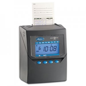 (Lathem Time 7500E Totalizing Time Recorder, Gray, Electronic, Automatic)