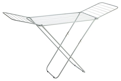 Folding Laundry Drying Rack Collapsible 10 Rods Steel Clothe