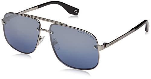 (Marc Jacobs Marc 318/S 6LB 9U Ruthenium Metal Aviator Sunglasses Blue Mirror Lens)