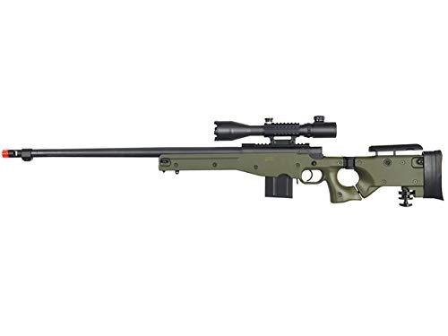 Well MB4403 Rifle de francotirador Airsoft W / 4-16X50MM TRI-Rail TED Rifle Scope - OD Verde