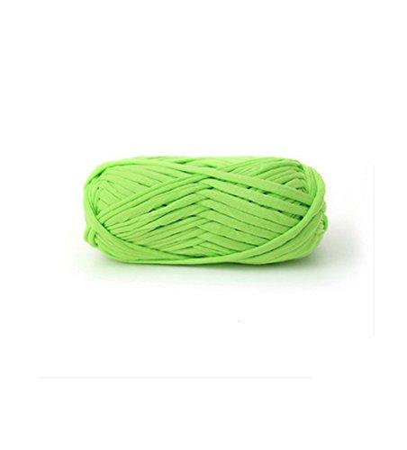 Zituop DIY Crochet Cloth T Shirt Yarn for Hand Knitting Rugs Basket, 100g, 0.22Lb (Light Green)