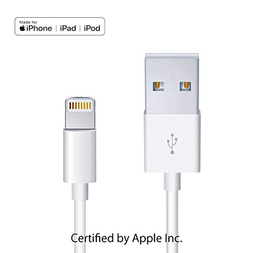 Apple iPhone/iPad Charging/Charger Cord Lightning to USB Cable[Apple MFi Certified] Compatible iPhone X/8/7/6s/6/plus/5s/5c/SE,iPad Pro/Air/Mini,iPod Touch(White 1M/3.3FT) Original ()