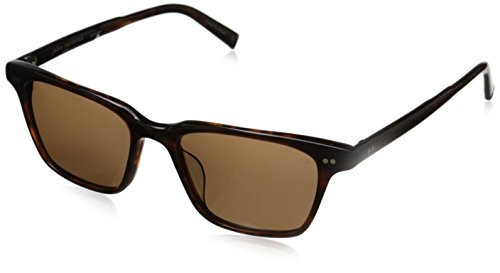 Unisex-Adult V601 V601BRO54 Polarized Square Sunglasses, BROWN UF, 19 - V Sunglasses Logo