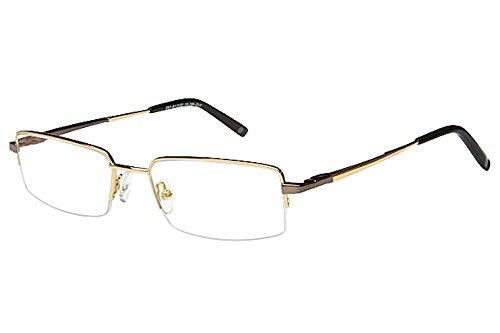 Tuscany Men's Eyeglasses 481 01 Gold Half Rim Optical Frame 52mm
