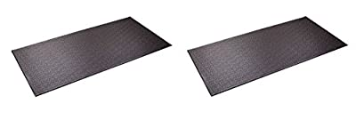 SuperMats Heavy Duty P.V.C. Mat for Cardio- Fitness Products (2.5-Feet x 5-Feet)
