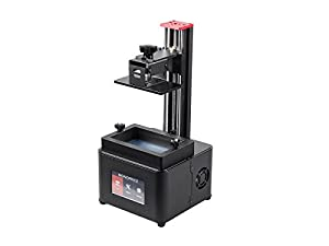 Monoprice Mini Deluxe SLA LCD High Resolution Resin 3D Printer + 250ml Red Photopolymer Resin by Monoprice (3D Printing)