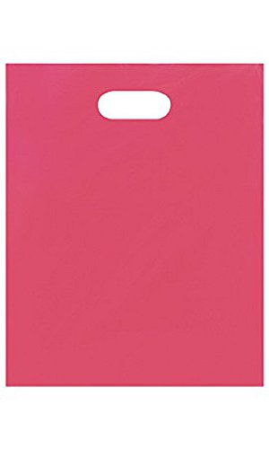Medium Low Density Pink Merchandise Bags - Case of 1,000 by STORE001