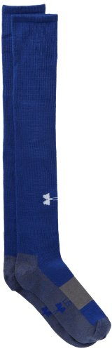 Free Under Armour Men's Soccer Solid Over-The-Calf Socks, Royal, One Size