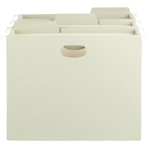 Smead FasTab Hanging File Pocket with TUFF Construction and Full-Height Gusset, 5-1/4