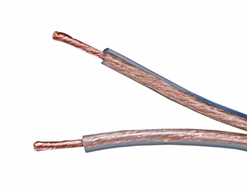 Blue Jackets Shops (Monoprice Choice Series 14 Gauge AWG 2 Conductor Speaker Wire / Cable - 100ft High Purity 99.9% Oxygen Free Pure Bare Copper For Home Theater, Car Audio And More)