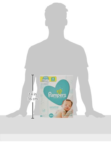 Large Product Image of Pampers Sensitive Water Baby Wipes 9X Refill Packs, 576 Count (Pack May Vary)
