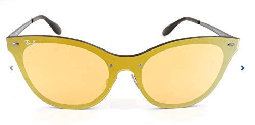 Ray-Ban Women's Steel Woman Non-Polarized Iridium Cateye Sunglasses, Orange, 43 ()