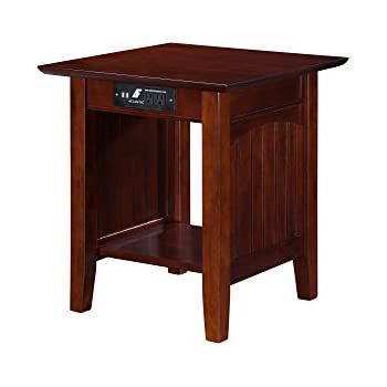 premium 3550 chairside end table with usb and power outlet charging ports and tray. Black Bedroom Furniture Sets. Home Design Ideas