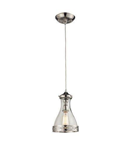 - Pendants 1 Light with Polished Nickel Finish Medium Base 7 inch 100 Watts - World of Lamp