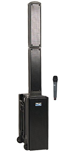 Anchor Audio Beacon Line Array Basic Package with One Wireless Microphone - Black