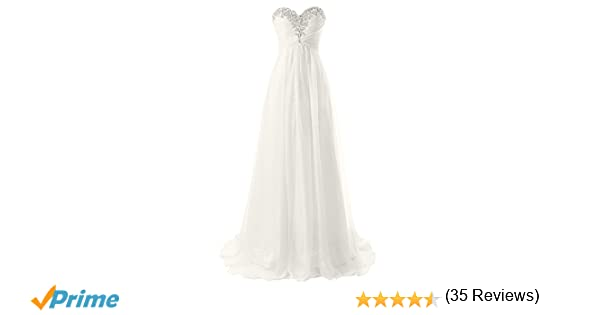 611532ac5af JAEDEN Strapless Beach Wedding Dresses Simple Bride Dress Chiffon Gown At  Amazon Womens Clothing Store