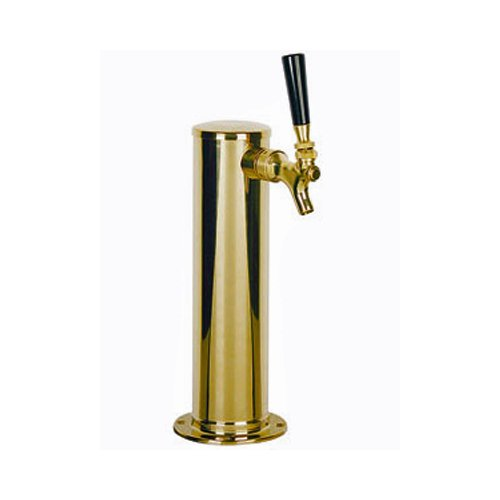 (PVD Coated Stainless Body Single Faucet Beer Tower (Polished Brass Look))