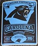 """NFL Carolina Panthers Marque Printed Fleece Throw, 50-inch by 60-inch, Carolina Panthers, 50 x 60"""""""