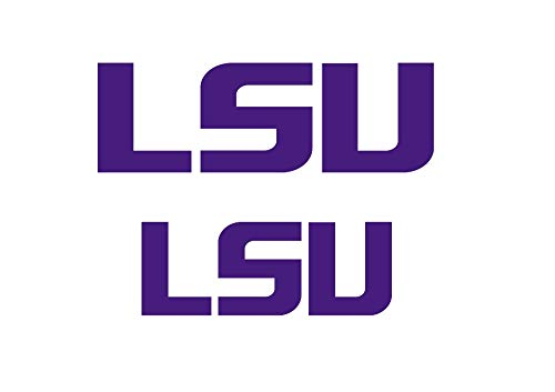 Set of 2 LSU Louisiana State University College Stencil Stencils
