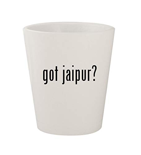 got jaipur? - Ceramic White 1.5oz Shot Glass