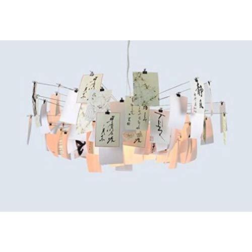 FidgetFidget Zettel'z 5 Paper Card DIY Germany Designer Chandelier Pendant Hanging Light Lamp Cartoon Calligraphy by FidgetFidget (Image #4)