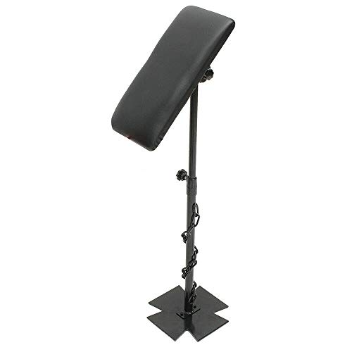 Tattoo Tripod Stand Height Adjustable Arm Leg Rest Stand Iron Tattoo Armrest LegRest Adjustable Thick Padded Cushion Stand 68-100cm ()