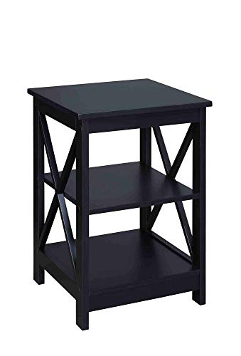 Convenience Concepts Oxford End Table, Black (Storage End Tables With Modern)