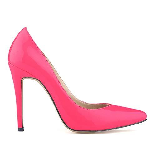 Ai Ya-liangxie Neue Sexy Büro Lila Blau Schwarz Classic Sexy Punkt Toe Schuh Leder Kleid Pumpen Frauen High Heels Schuhe