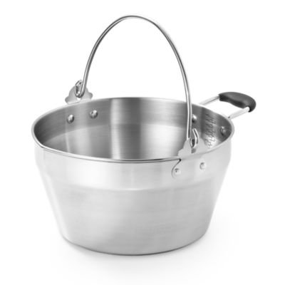 Lakeland Stainless Steel Maslin Jam Pan with Silicone Covered Handle, 4.5 Litre