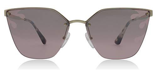 (Prada Women's 0PR 68TS Pale Gold/Light Grey Mirror/Silver Flame One Size)