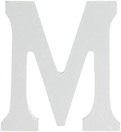 FACILLA/® Holzbuchstabe Buchstabe-M Holz Buchstaben Party Hochzeit Fest Deko Wei/ß Modisch