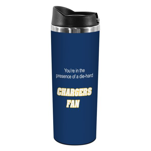 - Tree-Free Greetings TT02133 Chargers Football Fan 18-8 Double Wall Stainless Artful Tumbler, 14-Ounce