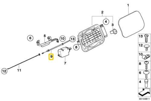 Puerta de combustible original de 5 pies serie E60 E61 Bowden 7066025 OEM