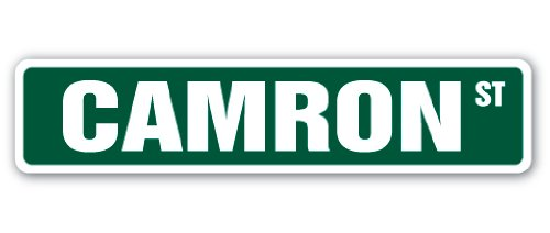 Camron Street Sign Decal Childrens Name Room Decal | Indoor/Outdoor |  9