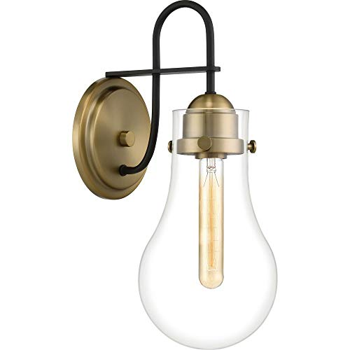 Quoizel QW4065WS Winstead Organic Wall Sconce Lighting, 1-Light, 100 Watt, Weathered Brass (16