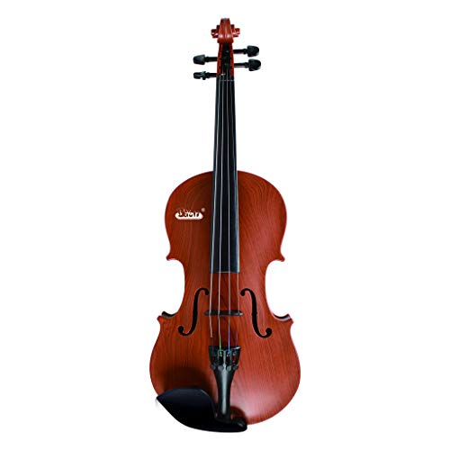 Nesee Toy Violin Electronic Toy Violin for Kids Beginner Learning Play Violin (Brown)