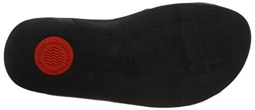 Slide Fitflop Perf Black Uomo Scarpe Surfer Spuntate Black Leather Mens aII4U7n