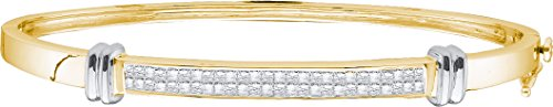 1 Total Carat Weight DIAMOND LADIES FLOWER BANGLE by Jawa Fashion