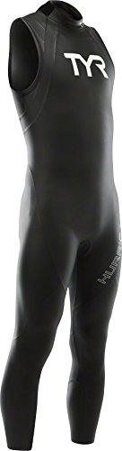 Sleeveless Wetsuit Category 1, Black/White, Large ()