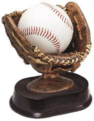 (Decade Awards Baseball Glove Ball Holder Trophy - Bronze | Game Ball Holder Award | 5 Inch Tall - Free Engraved Plate on Request)
